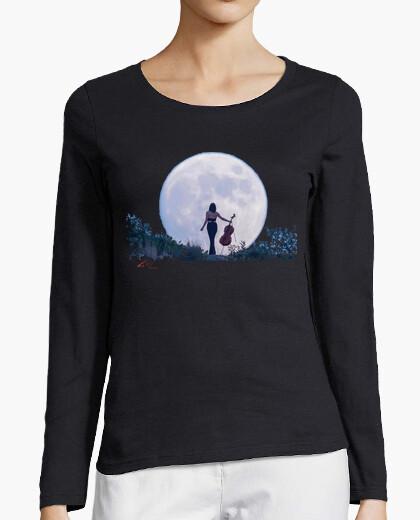 T-shirt Donna, manica lunga, blu marino