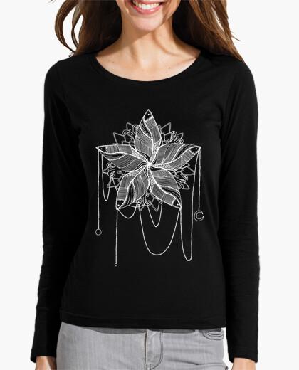 T-shirt Donna, manica lunga, nera