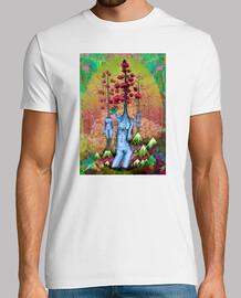 donne, alberi, fiori e montagne
