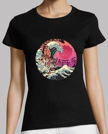 donne della camicia dell'onda del rad tiger