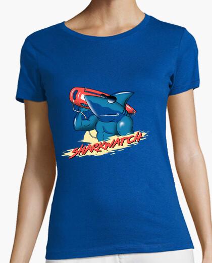 T-shirt donne della camicia dell'orso di squali