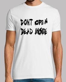 Dont Open de The Walking Dead - Negro Horizontal