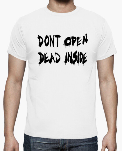Dont open of the walking dead - black horizontally t-shirt
