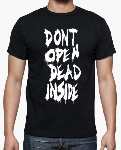 Dont open of the walking dead - white vertical t-shirt