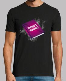 Don't panic camiseta hombre