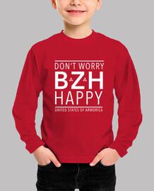 Don't worry (BZH) happy - enfant manche longue