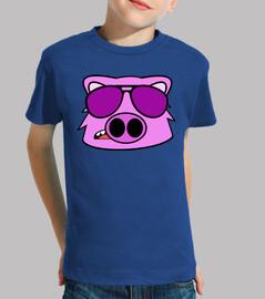doodle face pig