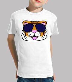 doodle face tiger