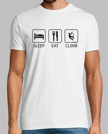 dormir eat and grimper à l'homme