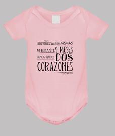 Dos corazones  - Body bebé, rosa