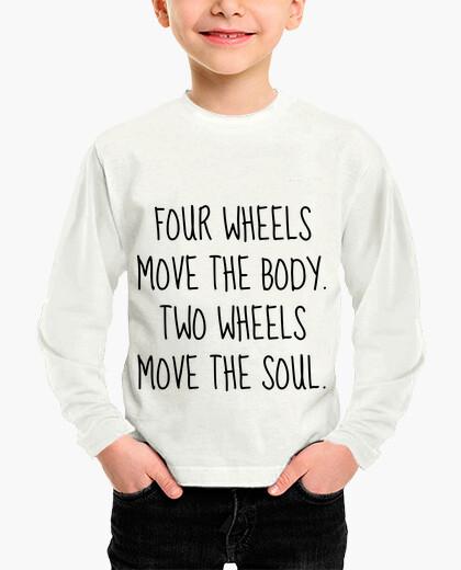 Ropa infantil dos ruedas mueven el alma / moto / moto