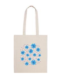 douce bleu motif floral