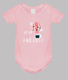 douche de bébé, montgolfière rose