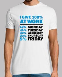 doy 100% en el trabajo