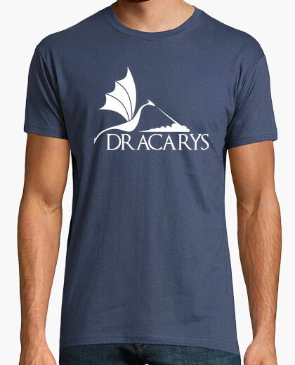 Camiseta Dracarys dragón blanco H