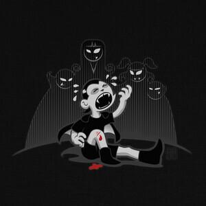T-shirt dracula childhood