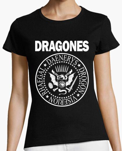 T-shirt draghi (bianco) m