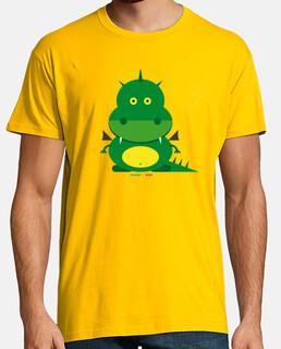 drago - uomo, manica corta, senape gialla, qualità extra