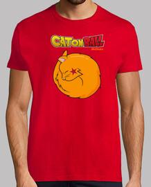 Dragon Ball humor gato camiseta hombre