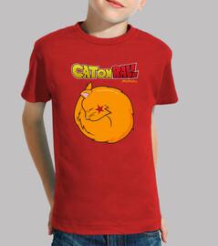 Dragon Ball humor gato camiseta niño