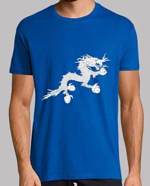 Dragón blanco (Bandera de Bután) Azul