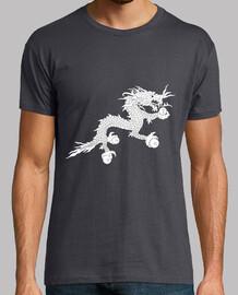 Dragón blanco (Bandera de Bután) Gris