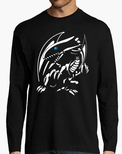 Camiseta Dragon Blanco Ojos Azules