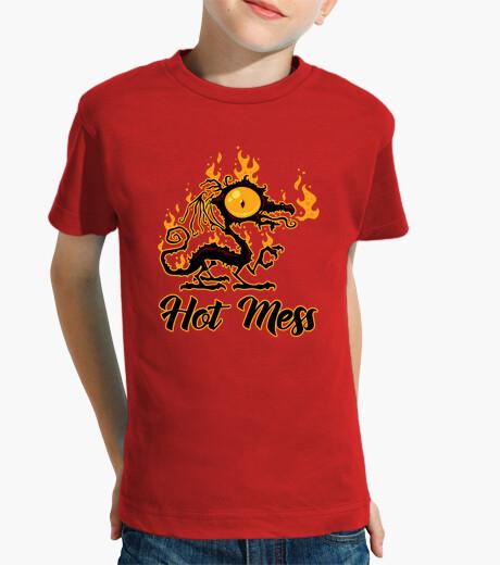 Ropa infantil dragón crujiente lío caliente