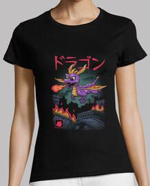 dragon kaiju camisa para mujer