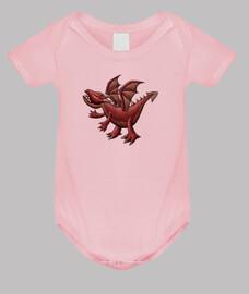 dragón rojo bebé