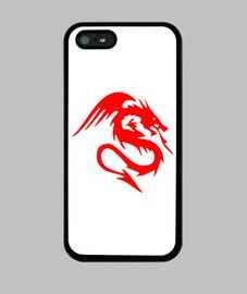 Dragon rojo echando fuego