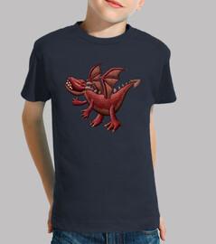 dragón rojo niños