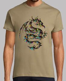 Dragón tribal multicolor