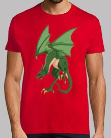 Dragón verde alado