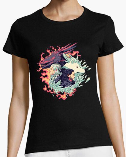 Camiseta Dragón y Lobo - Daenerys y Jon Nieve