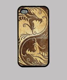 Dragon Yin Yang Gold - iPhone 44S