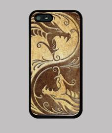 Dragon Yin Yang Gold - iPhone 5