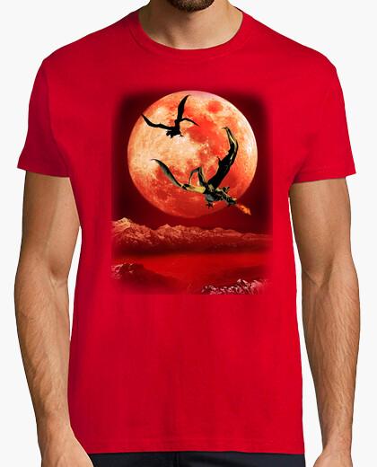 Camiseta Dragones bajo la luna roja