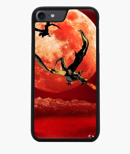 Funda iPhone 7 / 8 Dragones bajo la luna roja