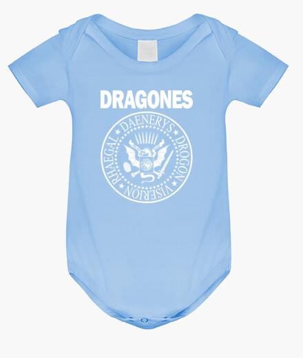 Ropa infantil DRAGONES (BLANCO)