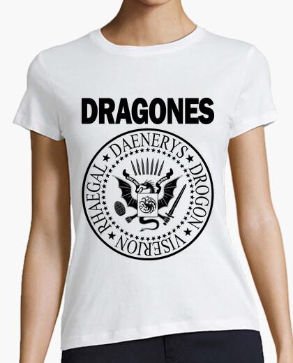 Camiseta DRAGONES (NEGRO) M