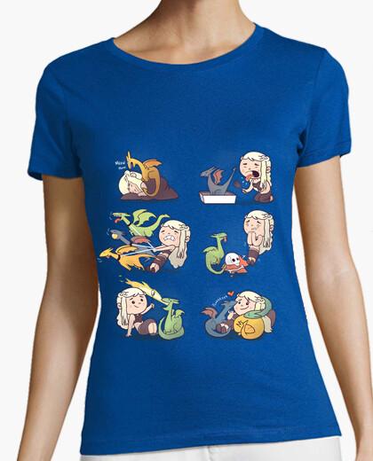 Camiseta dragones señora loca