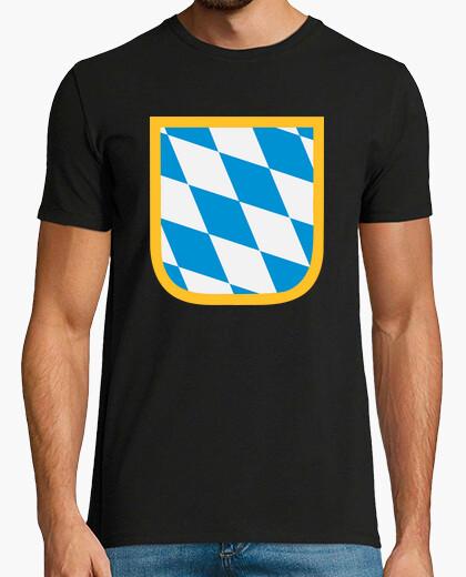 Tee-shirt drapeau emblème bavière