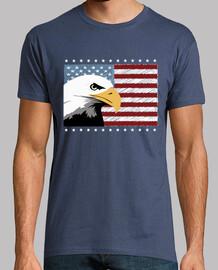 drapeaux t-shirt aigles américains