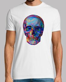 Dream Art Skull Hombre, manga corta, blanco, calidad extra