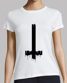 dripping inverted cross - black