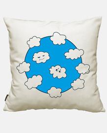 drôles nuages heureux ciel bleu