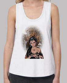 Drucilla sur T-shirt femme bretelles amples et Loose Fit, Blanc