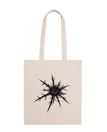 dry thistle black gothic botanical