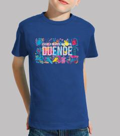 Duende camiseta infantil fondo azul